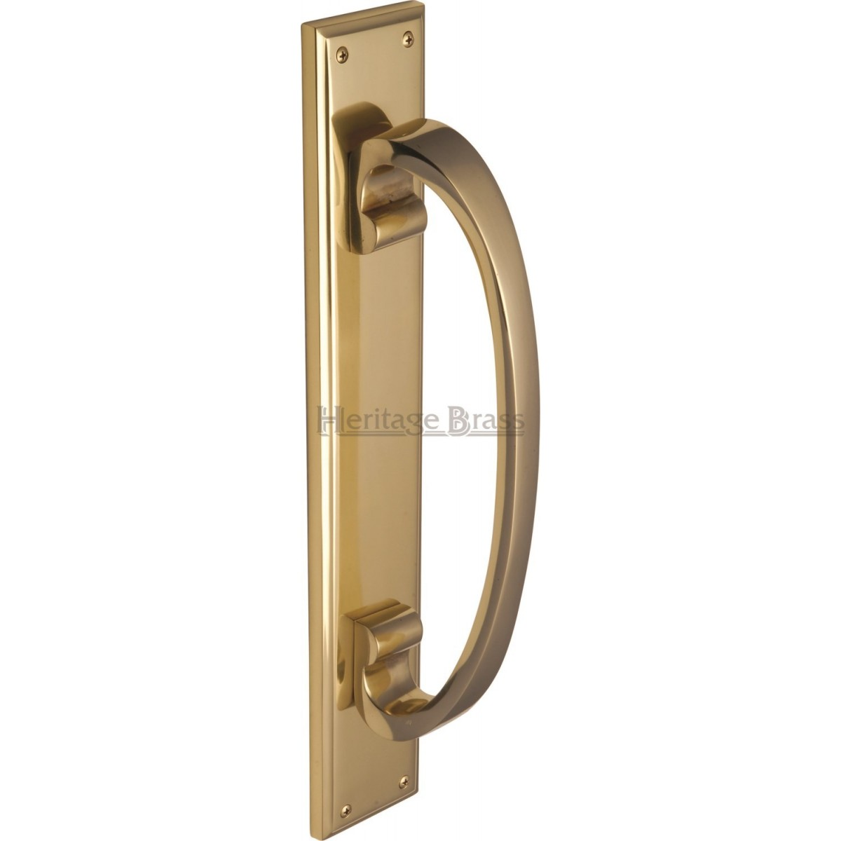 pull door handles. HERITAGE BRASS PULL HANDLE ON PLATE - LARGE V1162 Pull Door Handles