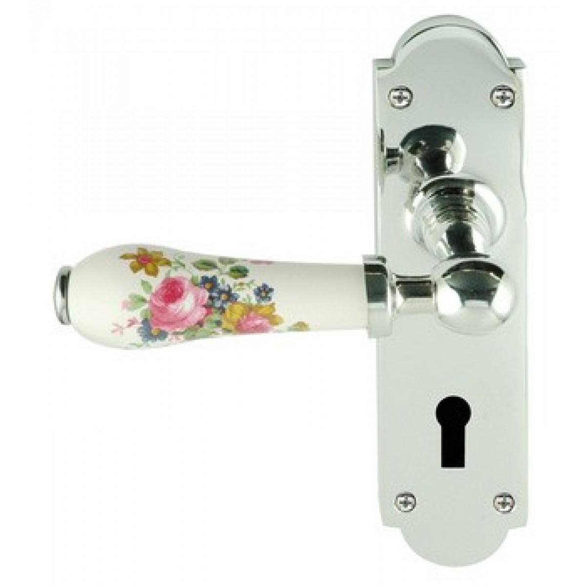 Chatsworth Bul29chip Chippendale Porcelain Door Handle