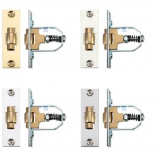 Zoo Hardware Adjustable Roller Latch in Polished Steel and Brass