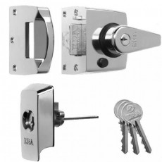 ERA High Security B.S. Night Latch (Front Door Lock) in Polished Chrome