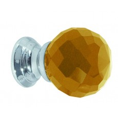 Frelan Amber Glass Faceted Cupboard Knob Jh1256