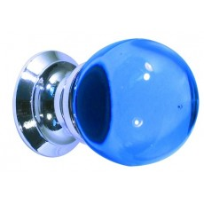 Frelan Blue Glass Ball Cupboard Knob Jh1207