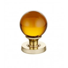 Jh5205 Frelan Plain Amber Glass Mortice Door Knob