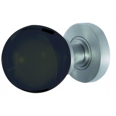 Jh5206 Frelan Plain Black Glass Mortice Door Knob