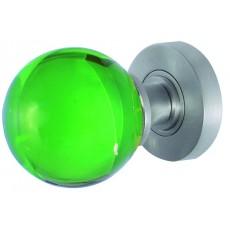 Jh5208 Frelan Plain Green Glass Mortice Door Knob