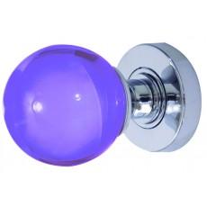 Jh5209 Frelan Plain Purple Glass Mortice Door Knob