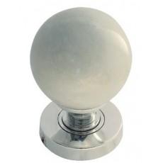 Jh5214 Frelan White Marble Mortice Door Knob