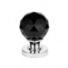Jh5257 Frelan Faceted Black Glass Mortice Door Knob