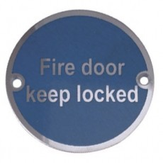 Frelan Door Sign - Fire Door Keep Locked