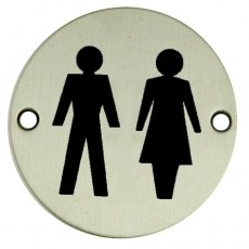 Frelan Door Sign - Unisex Pictogram