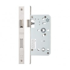 DIN Bathroom Lock in Square Shape in Stainless Steel - 55mm and 60mm