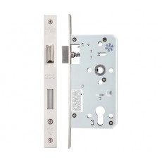 Euro Sash Lock in Satin Stainless Steel  55mm