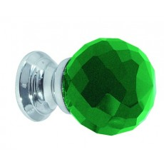 Frelan Green Glass Faceted Cupboard Knob Jh1259