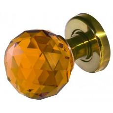 Jh5256 Frelan Faceted Amber Glass Mortice Door Knob