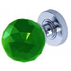 Jh5259 Frelan Faceted Green Glass Mortice Door Knob