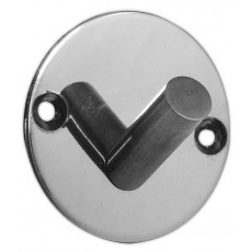 Frelan Single Robe Hook On Round Backplate 902a