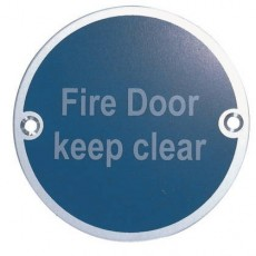 Frelan Door Sign - Fire Door Keep Clear