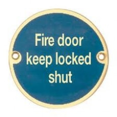 Frelan Door Sign - Fire Door Keep Locked Shut