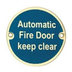 Frelan Door Sign - Automatic Fire Door Keep Clear