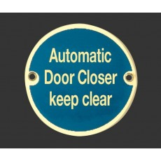 Frelan Door Sign - Automatic Door Closer Keep Clear