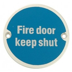 Frelan Door Sign - Fire Door Keep Shut