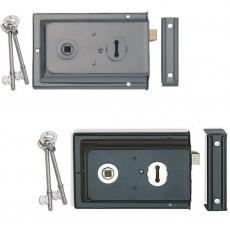 Reversible Rim Lock in Grey and Black
